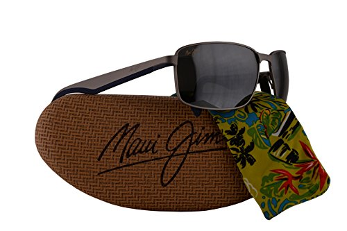 Maui Jim Backswing Sunglasses Satin Grey w/Polarized Neutral Grey Lens - Jim Banyans Sunglasses Maui