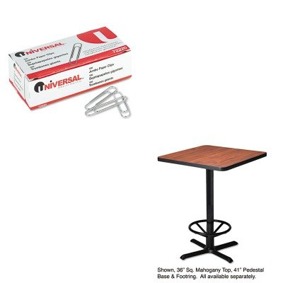 KITMLNCA41B2025UNV72220 - Value Kit - Mayline Hospitality Table quot; Xquot; Pedestal Base (MLNCA41B2025) and Universal Smooth Paper Clips ()