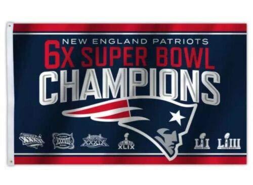New England Patriots 2018 Super Bowl Championship Logo Flag 3x5- With -