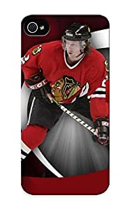 Standinmyside Brand New Defender Case For Iphone 5/5s (Chicago Blackhawks HD Background) / Christmas's Gift