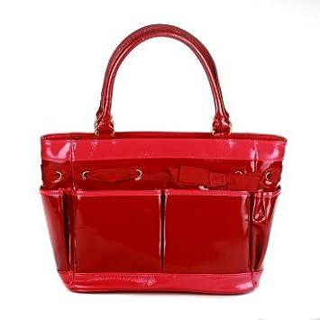 1ccb23829322 Amazon.com   Cynthia Rowley Patent Leather Diaper Bag   Diaper Tote Bags    Baby