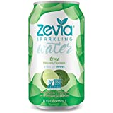Zevia Zero-Calorie Beverage Lightly Sweetened Sparkling Water Lime, 12 Ounce Cans (Pack of 24) (Packaging May Vary)