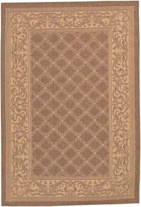 Couristan Cocoa Garden Lattice (Garden Lattice Cocoa Nautral 1016/3000 Recife Outdoor Rug by Couristan - 3 ft 9 in x 5 ft 5 in)