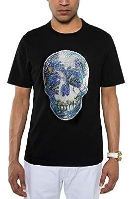 Sean John Men's Sequin Skull T-Shirt. Sequin