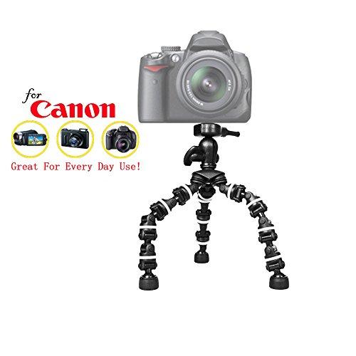 """Pro 13"""" Heavy Duty Flexipod for Canon EOS 7D, EOS 7D Mark II, EOS 60D, EOS 60Da, EOS 70D, EOS 80D, EOS D30, EOS D60 SLR Camera, 13 Inch Tri-pod w/Quick Release -  iSnapPhoto, 68FLX13TR_08"""