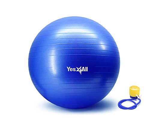 Anti Burst Stability Ball with Foot Pump - 55 cm - Blue - ²ZDFVZ