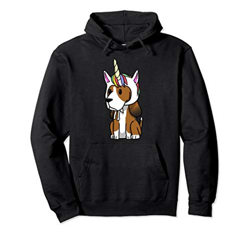 Basset Hound Unicorn Hat Funny Dog Gift  Pullover Hoodie