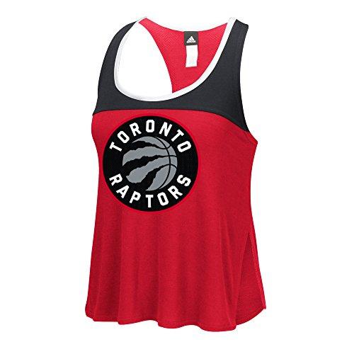 fan products of NBA Toronto Raptors Women's Color Block Tank Top, Medium, Red
