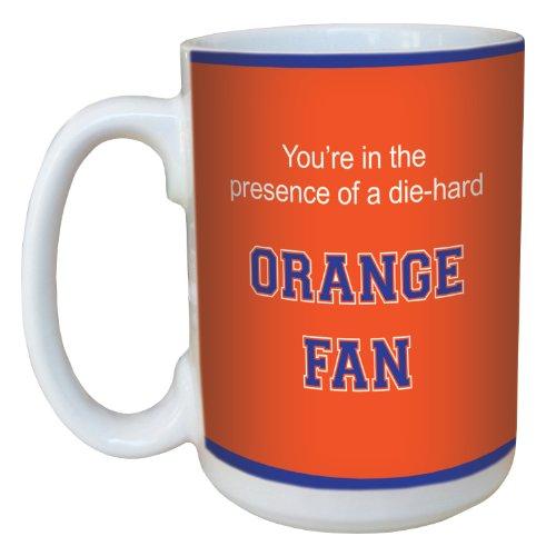 Tree-Free Greetings lm44902 Orange College Basketball Ceramic Mug with Full-Sized Handle, 15-Ounce