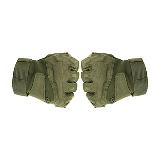 FakeFace Half-finger Fingerless Gloves Airsoft Hunting Riding Cycling Motorcycle Armor Racing Paintball Workout Batting Gloves