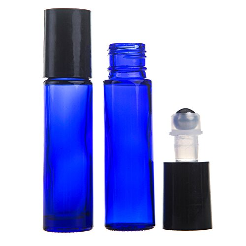 Aguder 8 Blue 10 Ml Glass Roll On Bottles With