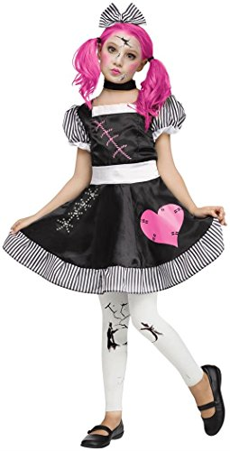 Doll Halloween Costumes For Girls (Broken Doll Kids Costume)