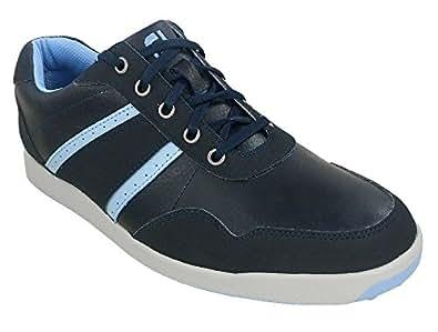 Footjoy Mens Contour Casual Golf Shoes Navy/Light Blue/Grey 9.5 M US 54389