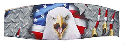 Fierce American Road Eagle Chop Top Biker Doo Wrap Bandanna ()
