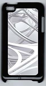 iPod 4Case 3D white linear 2 PC Custom iPod 4Case Cover Black
