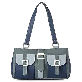Mamba MHB1 Mini Shoulder Bag for Women - Leather, Blue