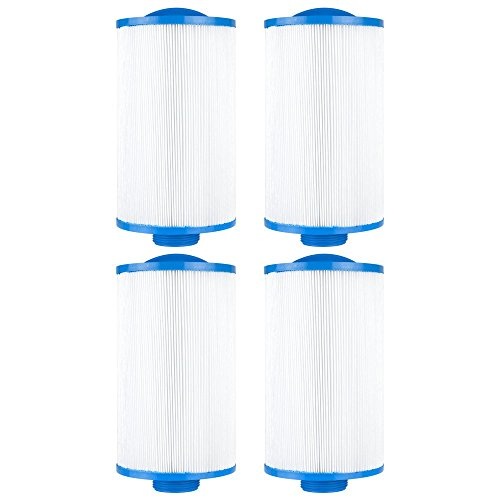 Clear Choice CCP107 Pool Spa Replacement Cartridge Filter for Vita Spa, Saratoga Spa, Pageant Spa 19 Filter Media, 4-5/8