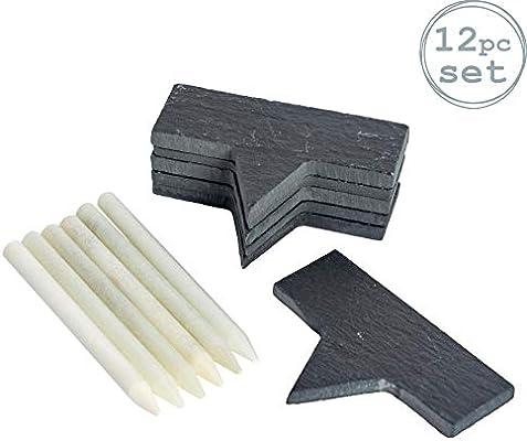 Marcadores para queso - Incluye tizas finas - Pizarra - 70 x 25 mm - Pack de 6: Amazon.es: Hogar