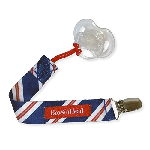orn PaciGrip Pacifier Clip, Holder, Toy, Teether, Soothie, Universal Loop Boy, Blue Tie, Red White and Blue (Renewed) ()