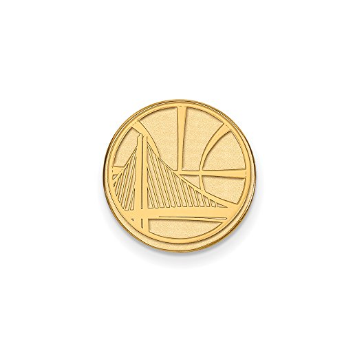 NBA Golden State Warriors Lapel Pin in 14K Yellow Gold by LogoArt