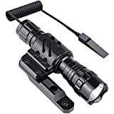Feyachi FL14 Mlok Flashlight 1200 Lumen Tactical Weapon light with M-Lok Rail Mount for AR15 Outdoor Hunting Shooting - Rechargeable 18650 Batteries and Pressure Switch Included