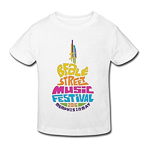 SHUA BABY Kid's Toddler 2016 Beale Street Music Festival T-Shirt Age 2-6 White 4 Toddler (Ncis La Stuff)