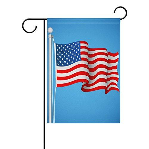 LIDU Double Sided American Flag Garden Flag Yard Flag Banner