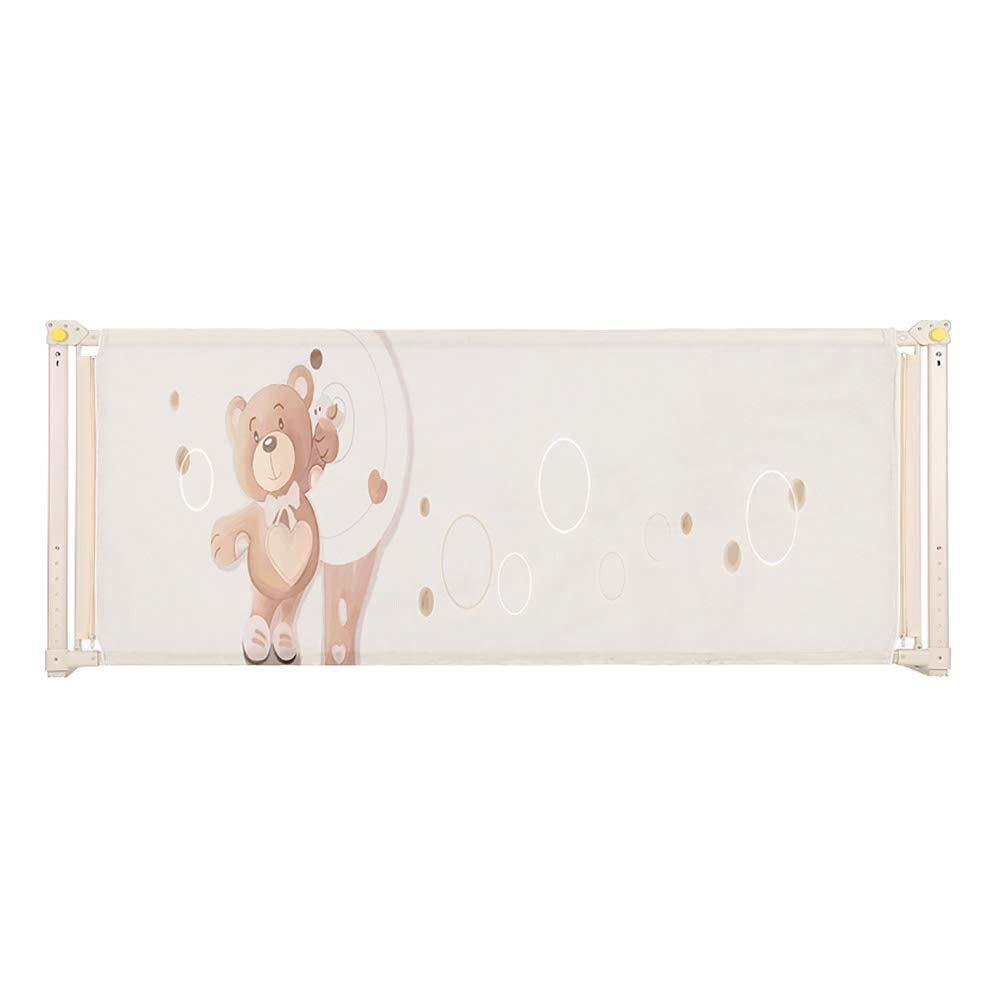 リフトベビーベッドレールフルサイズアンチコリジョン調節可能メッシュ幼児キングサイズベッドのガードレール安全ベージュ子供ベットレー (サイズ さいず : 180cm) B07JVCH836   180cm