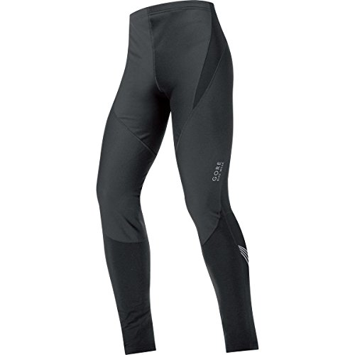 GORE BIKE WEAR Men's Long Soft Shell Thermal Cycling Tights, GORE WINDSTOPPER,  WS SO, Tights, Size S, Black, (Ws Thermal Tight)