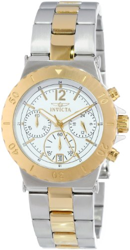 Invicta Womens 14855 Specialty Chronograph 18k Gold Ion Plating and Stainless Steel Two-Tone Watch