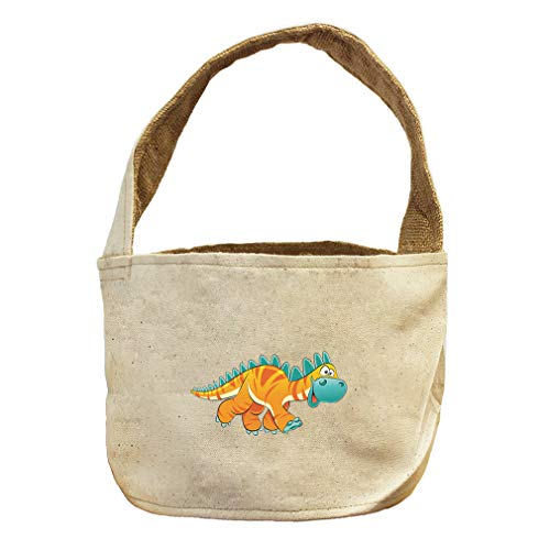 Style in Print Dinosaur Yellow Facing Right Animals Canvas and Burlap Storage Basket by Style in Print