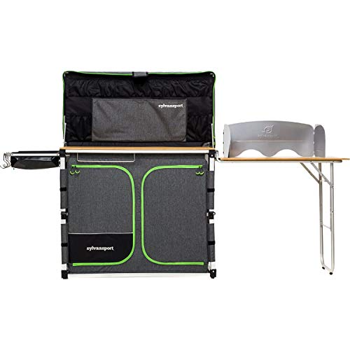 SylvanSport Outdoor Camp Kitchen System for Easy Cooking, Clean Up, Camping Meal Prep, Glamping and Camping Essentials, Dine-o-Max Large Version