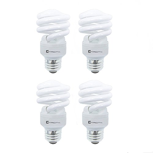 Compact Fluorescent Light Bulb T2 Spiral CFL, 5000k Daylight, 13W (60 Watt Equivalent), 900 Lumens, E26 Medium Base, 120V, UL Listed (Pack of (13 Watt Fluorescent Light Bulb)