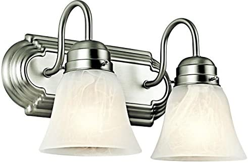 Kichler 5336NI Bath 2-Light, Brushed Nickel