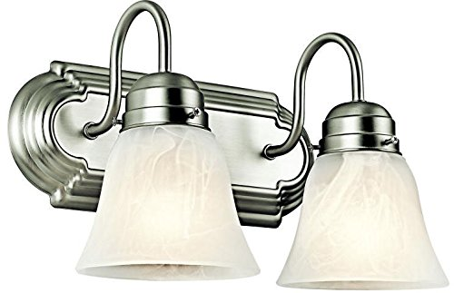 Kichler 5336NI Bath 2-Light, Brushed Nickel