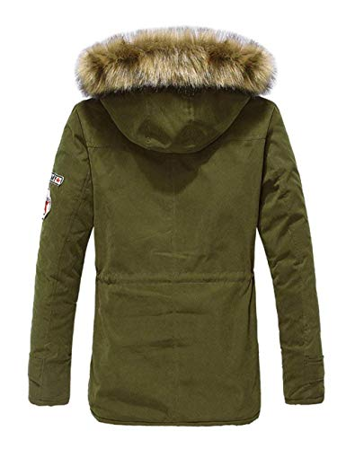 Casual Grün Apparel Fashion Coat Jacket Gift Winter Hooded Thickened Long Mens Outdoor Coat Armee Sleeve Outerwear Warm Winter Coat qwxRRvUS