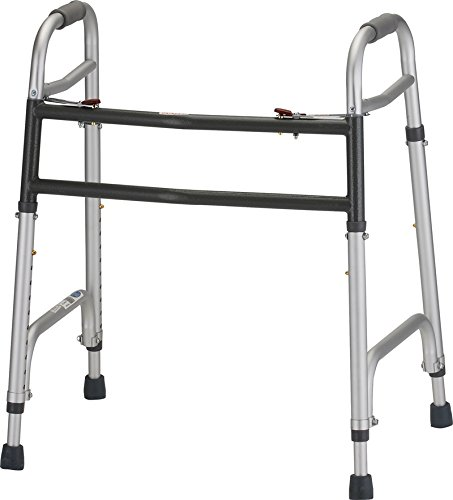 Heavy Duty Folding Walker - with 5 inch wheels - 1 Each/Each - 4095DW5 by NOVA Medical Products