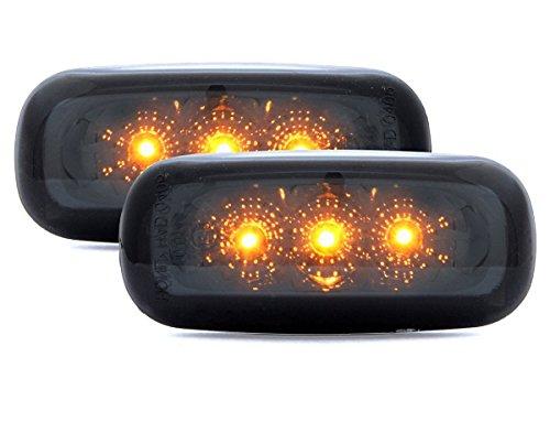 Clear glass LED Side Indicator Set Chrome 1434009