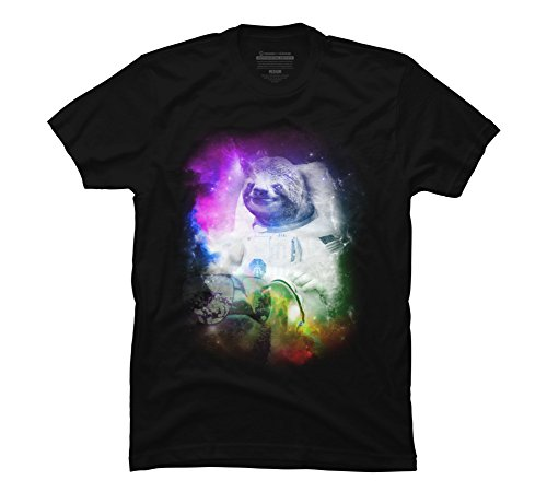 Design By Humans Space Sloth Men'S Graphic T Shirt - Sloth T-Shirts
