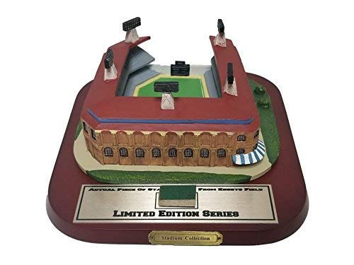 - Limited Edition Ebbets Field Stadium Figurine with Game Used Stadium Piece