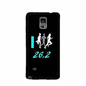 I Run 26.2 Black Samsung Galaxy Note3 Rubber Phone Case