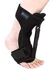 Nvorliy Night Splint for Plantar Fascitis with Adjustable and Detachable Straps, Breathable Foot Orthotic Brace, Ankle, Heel & Achilles Tendonitis Relief, Arch Foot Pain Support - One Size Fits Most