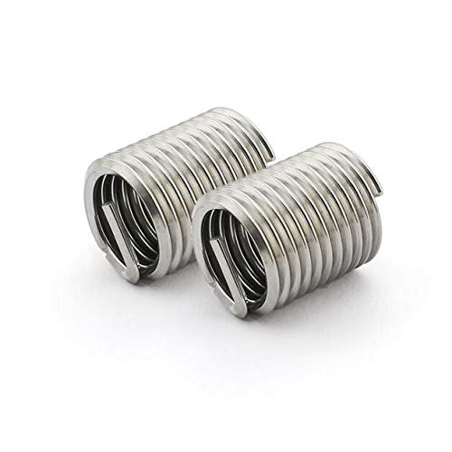 m201D Wire Screw Sleeve Thread Repair Insert Ochoos 20pcs M202.51D Wire Thread Insert 304 Stainless Steel M20 Screw Bushing