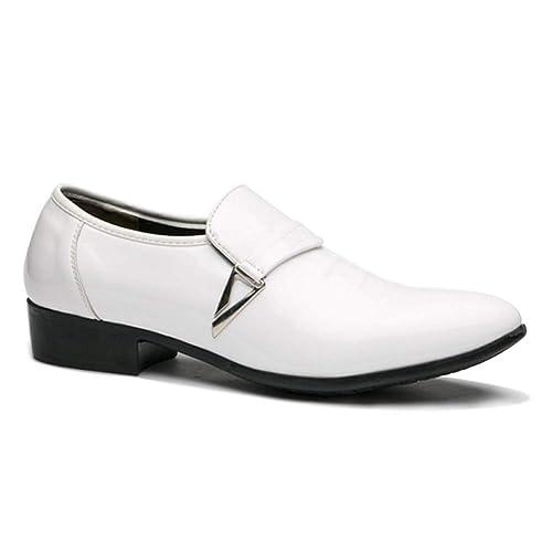 Tenthree Formal Slip On Cuero Zapatos Hombre - Moda Plataforma Zapatos Resbalón Zapatillas Vestido Traje Negocio Fiesta Boda Uniforme Negocio Informal: ...