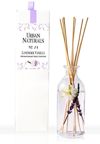 Urban Natural - Urban Naturals Lavender Vanilla Essential Oil Aromatherapy Reed Diffuser No. 24 | Best Selling Mothers Day Gift & Stress Reliever | ON SALE! Save on Clearance Special Discontinued Item