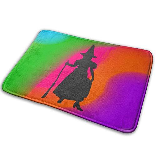 NOLIEE Doormat Girl Halloween Witch Costume Silhouette by Vexels Entrance Rug IndoorDoormat Entrance Mat Floor Mat Rug Indoor/Bathroom Mats Rubber Non Slip (23.6
