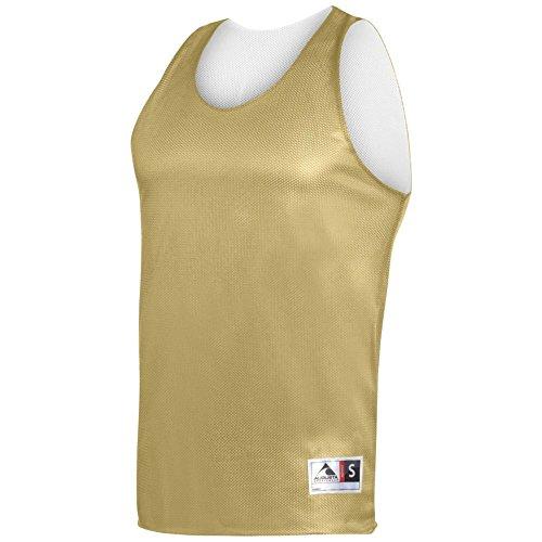 Augusta Activewear Reversible Mini Mesh League Tank, Vegas Gold White, - Near Premium Outlets Vegas Las