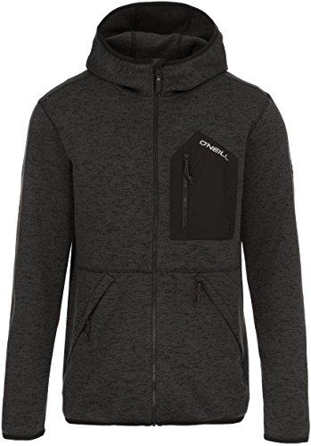 O'Neill Men's Piste Hoodie Fleece, Black Out, Large