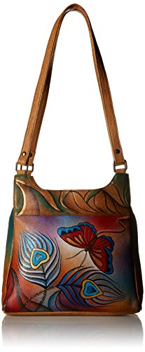 Anuschka Medium Hobo PBF, Peacock Butterfly, One Size by Anna by Anuschka