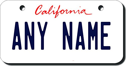 Personalized Plate (TEAMLOGO Personalized California License Plate - Sizes for Kid's Bikes, Cars, Trucks, Cart, Key Rings (2